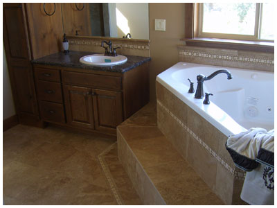 Custom Single Family Home - Bathroom Work