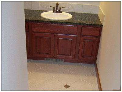 Bathroom Cabinets, Tile and Counter Tops