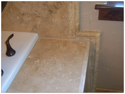 Tile Trim and Work Around The Sink