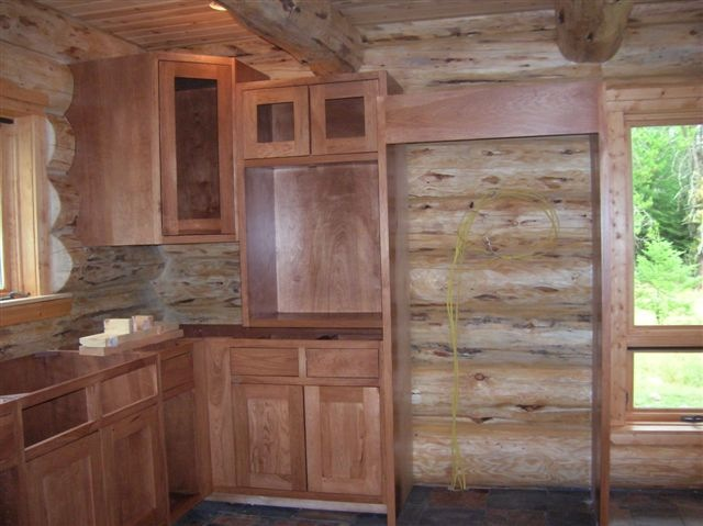 Log House, Cabinet Installation