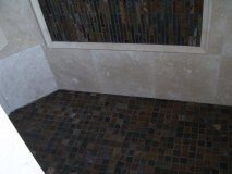 Matching Tile Work, Floor and Walls